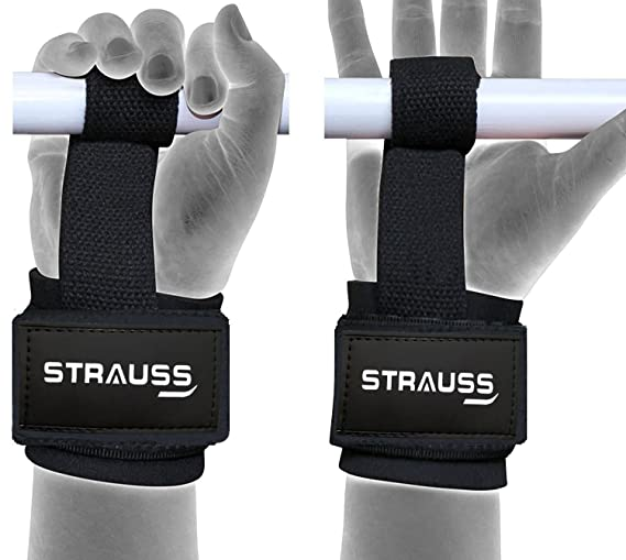 Strauss ST Cotton Gym Support, Pair (Black) Pilates Spine Supporters at amazon