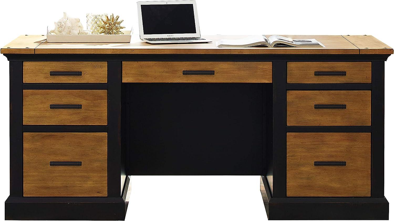 Martin Furniture Double Pedestal Desk, Brown