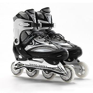 Sunkini Zapato de Patinaje Sobre Ruedas Profesional para Adultos Patinaje de Velocidad Variable Sobre Slalom Patinaje