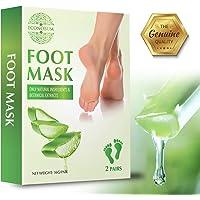 Econobum Exfoliating Foot Peel Mask 2 Pack, Peeling Away Calluses and Dead Skin cells, Get Soft Baby Feet in 1-2 Weeks
