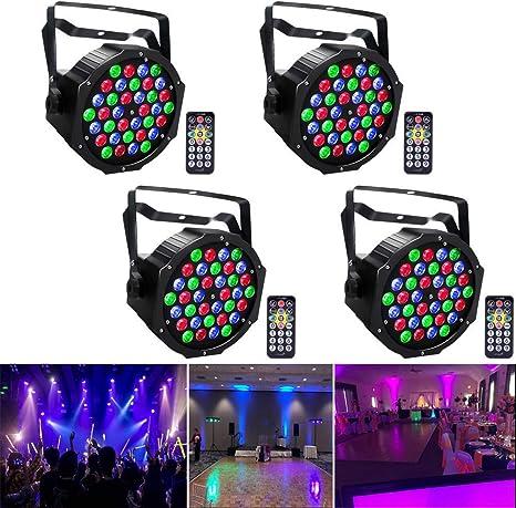 U`king Kabellos 36 PARLicht Bühnenlicht RGB Stage Licht Mit Fernbedienung Party