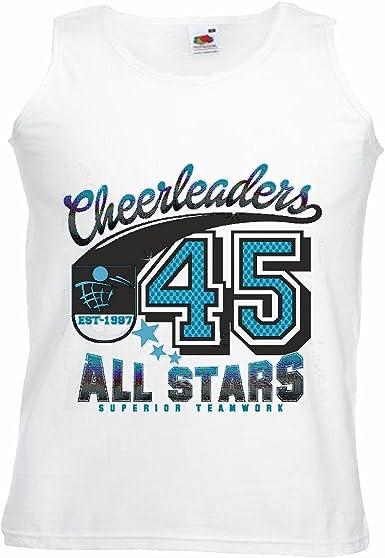 Camisa del músculo Tank Top Cheerleaders Todas Las Estrellas Superior EN Equipo béisbol Bate de béisbol Jugador de béisbol Camiseta béisbol Equipo Manga en Blanco: Amazon.es: Ropa y accesorios