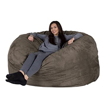 Excellent Lounge Lizard Suede Xxl Giant Bean Bag Chair Sofa Huge Beanbag Velour Large Sofa Chill Mattress Uk Charcoal Grey Andrewgaddart Wooden Chair Designs For Living Room Andrewgaddartcom