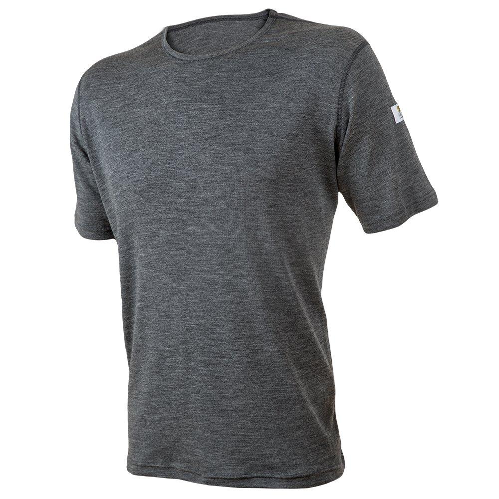 Janus Summerwool 100% Merino Wool Men's T-Shirt Machine Washable. Made In Norway (Grey Melange, Small)