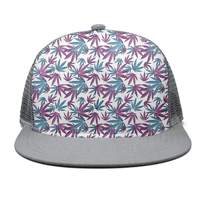 94f3b7c323f Men Women Full Print Mesh Baseball Hat Lightweight Cannabis Fashion Weed