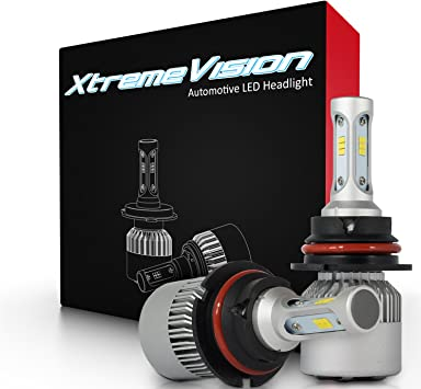 2019 Model XtremeVision X5 12,000LM LED Bulb 6500K ZES Custom-Made 9005 LED Headlight Kit