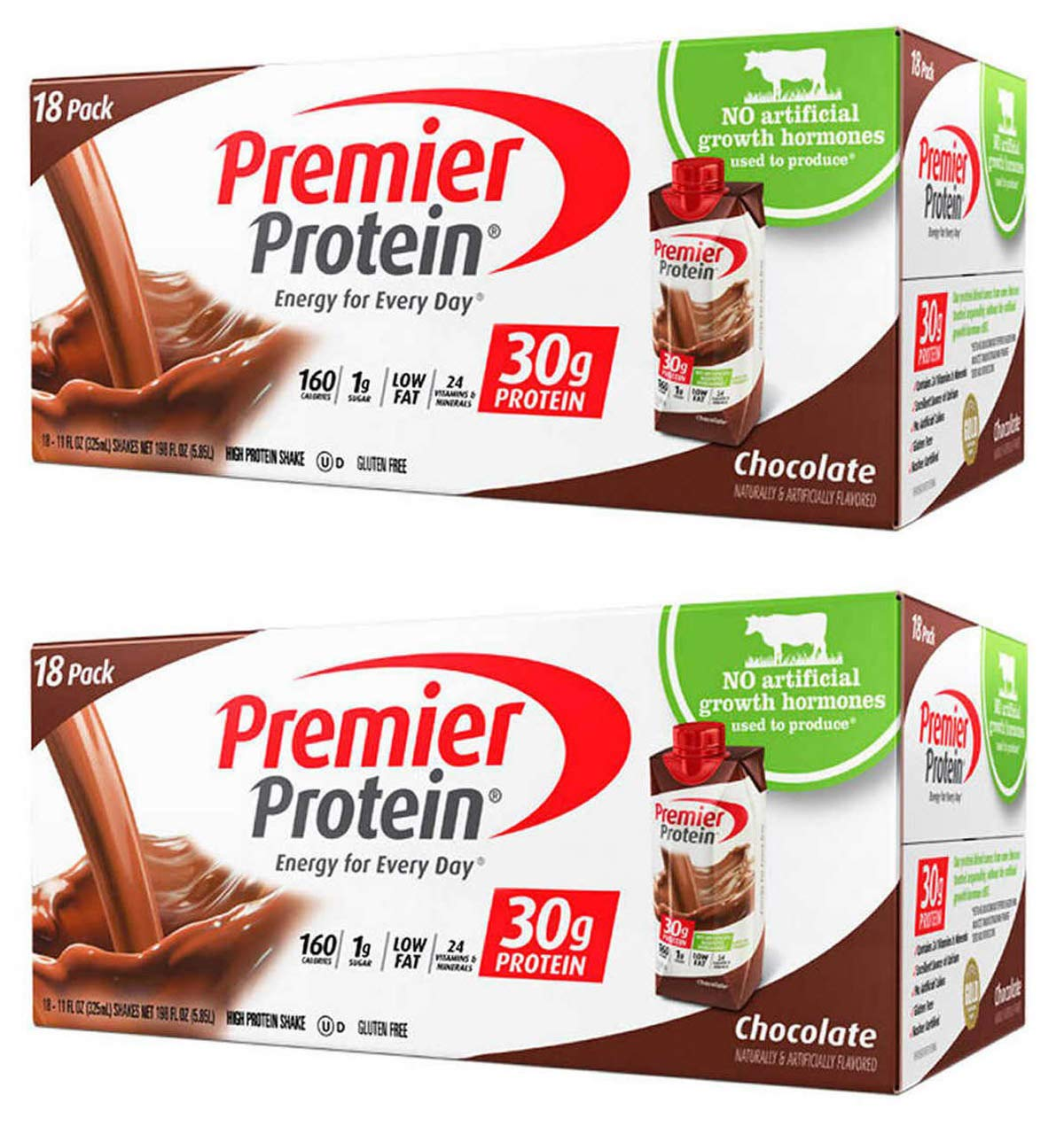 IUYEHDUH Nutrition High Protein Shake, Chocolate, 18 Count -(11 fl.oz Each) 2 Pack