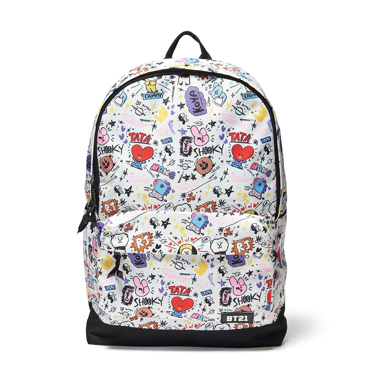 Amazon.com | BT21 Offical Merchandise by Line Friends - Graphic Backpack Travel School Book Bag, White | Backpacks