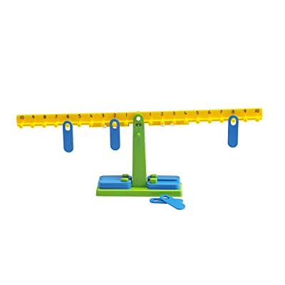 Edx Education Student Math Balance - Includes 20 Weights - Teach Early Math and Number Concepts - Beginner Addition, Subtraction and Equations: Industrial & Scientific