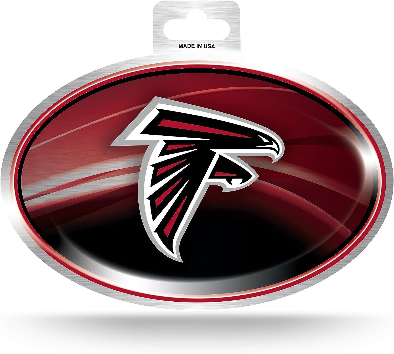 NFL Rico Industries Metallic Team Logo Sticker Atlanta Falcons
