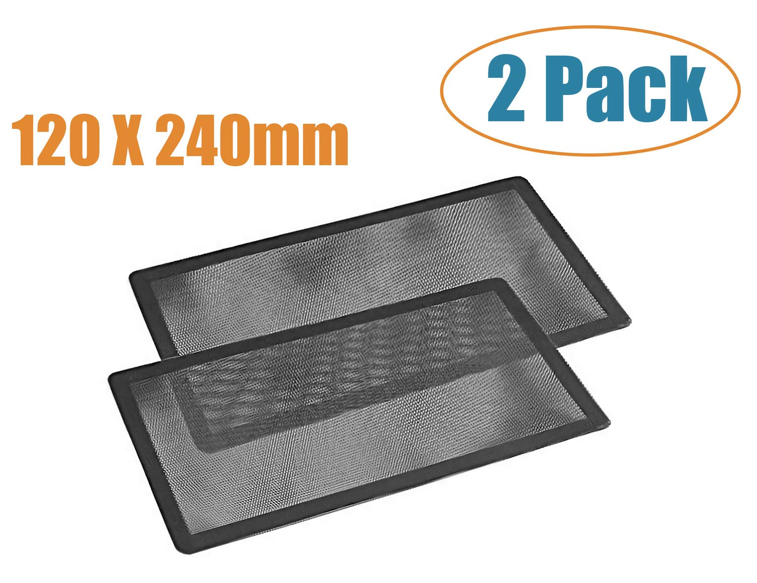 120mm x 2 Magnetic Frame Dust Filter, Computer Dust Filter and PC Computer Case Fan Dust Filter Screen Dustproof Case Cover with Magnet, Ultra Fine PVC Mesh Set of 2 by SSIOIZZ