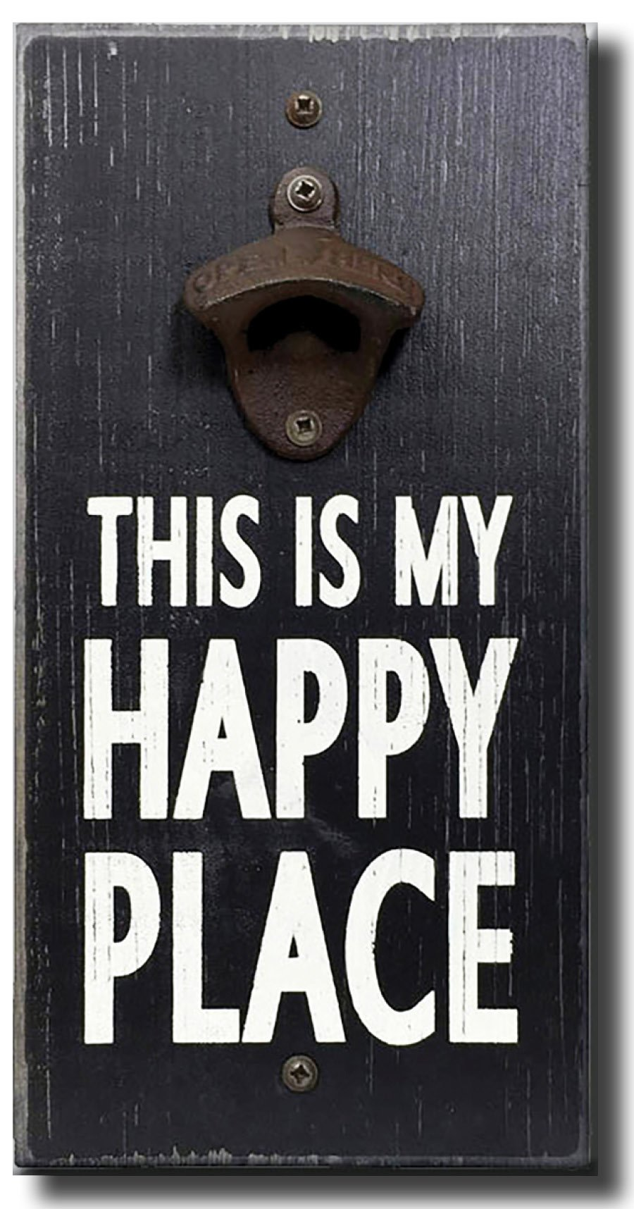 My Happy Place - Wooden Wall Mounted Bottle Opener by My Word!