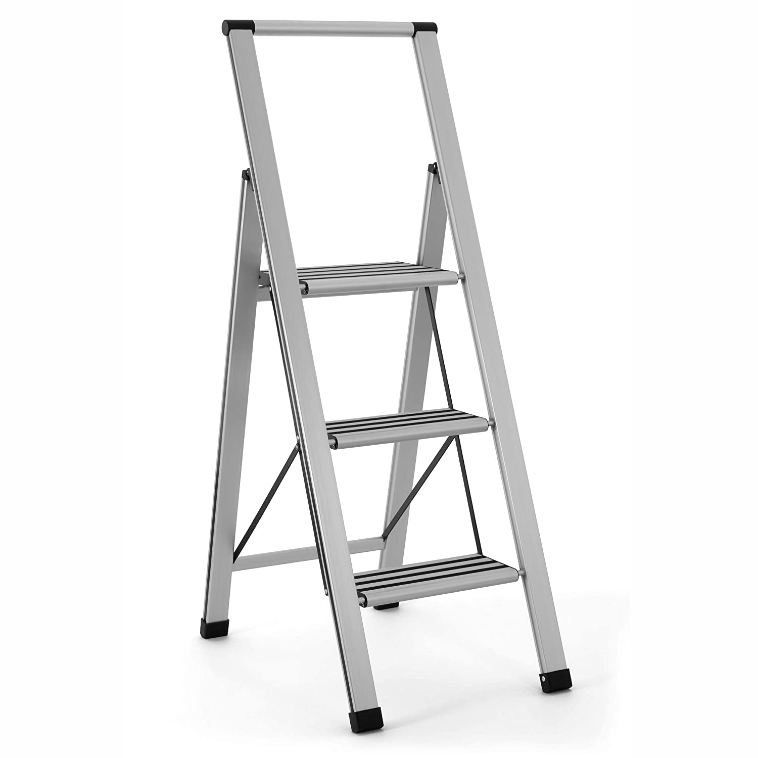 Terrific Delxo 2 In 1 Lightweight Aluminum 3 Step Ladder Stylish Beatyapartments Chair Design Images Beatyapartmentscom