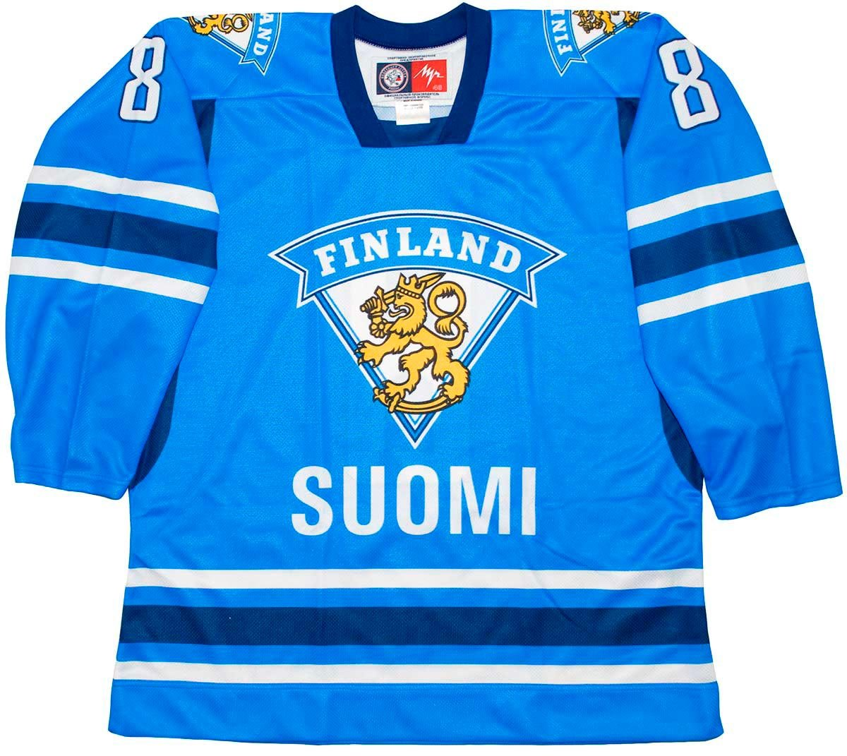 Amazon.com   Lutch Teemu Selanne Finland National Blue Hockey Jersey    Sports   Outdoors a6f345830a5