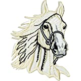 Sew-On Badge / Iron-On Patch Horse Head Riding Horse