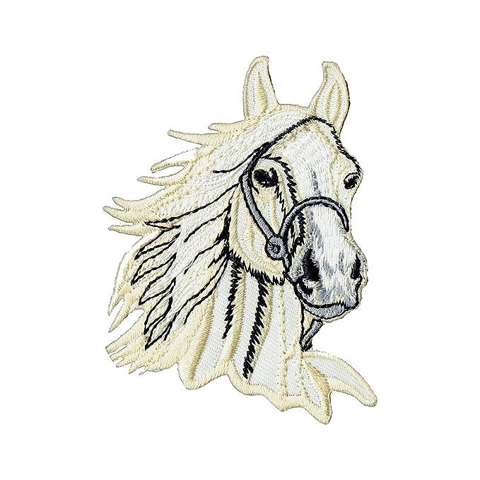 Coser-En la insignia / Hierro-En aplicación del parche a caballo en ...