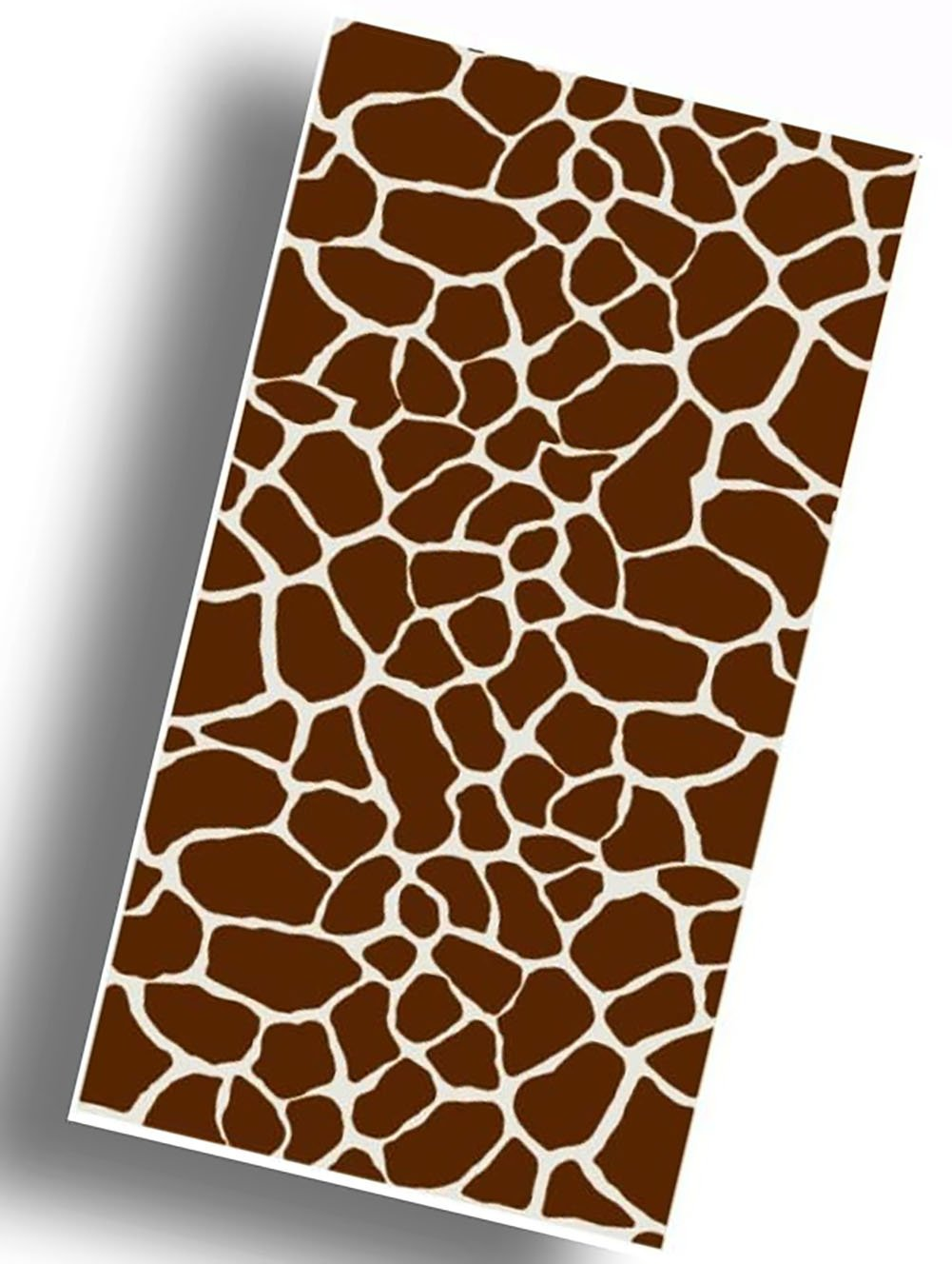 "Custom & Luxurious {30"" x 60"" Inch} 1 Single Large & Thin Soft Summer Beach & Bath Towels Made of Quick-Dry Cotton w/ Jungle Savannah Giraffe Animal Print Creature Souvenir Style [Multicolor]"