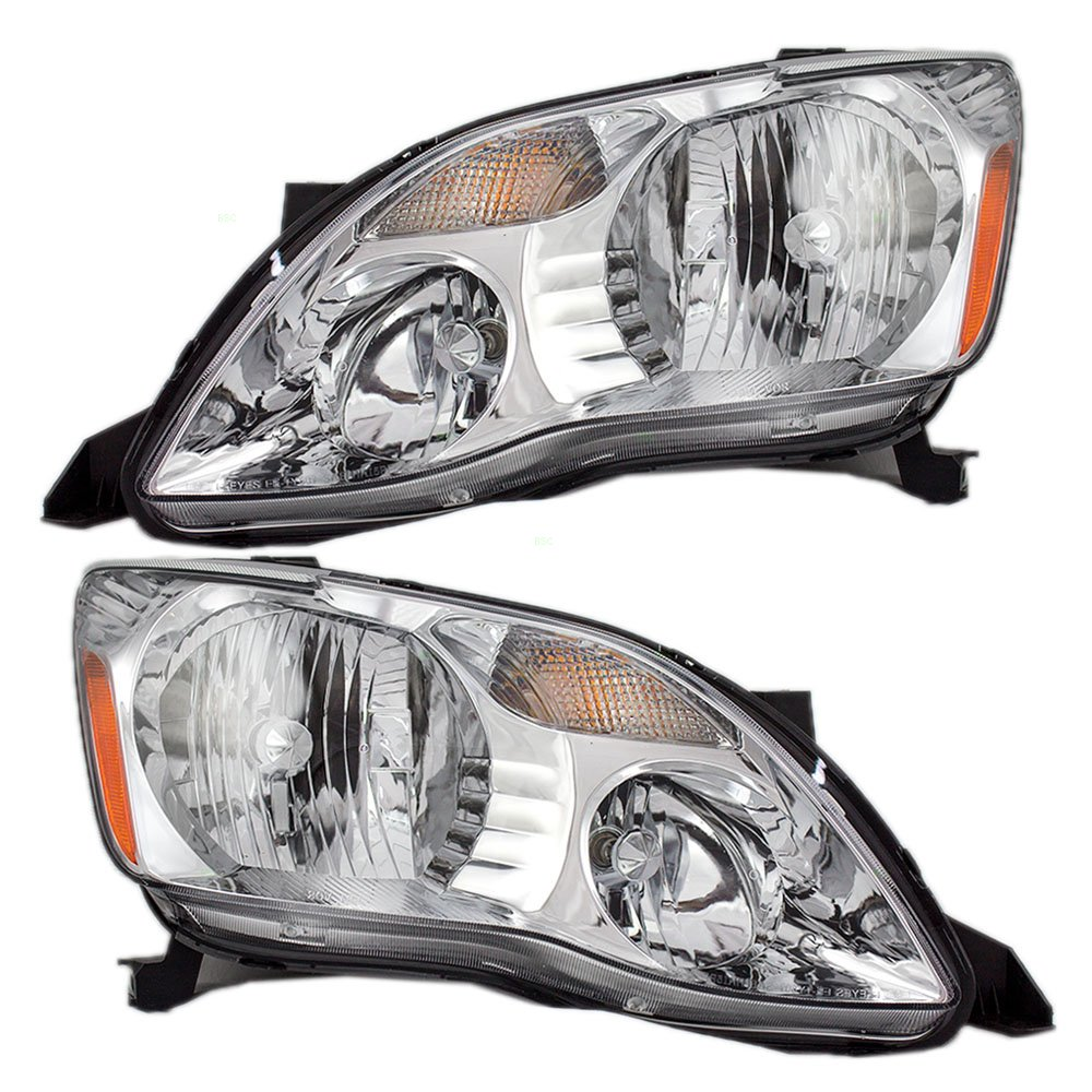 Driver and Passenger Halogen Headlights Headlamps Replacement for Toyota 81150-AC050 81110-AC050