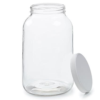 Amazoncom Empty 1 Gallon Glass Jar w Airtight Leakproof Plastic