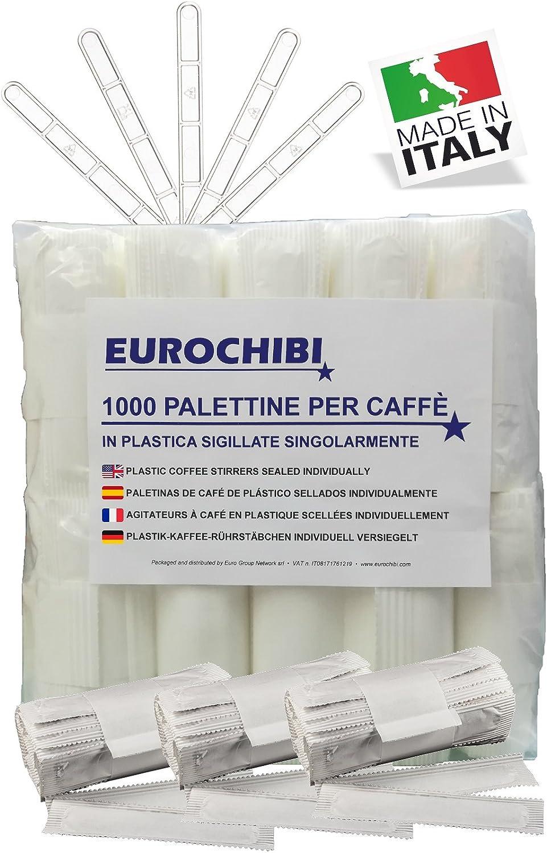 EUROCHIBI® 1000 PALETINAS DE CAFÉ DE PLÁSTICO SELLADOS Individualmente