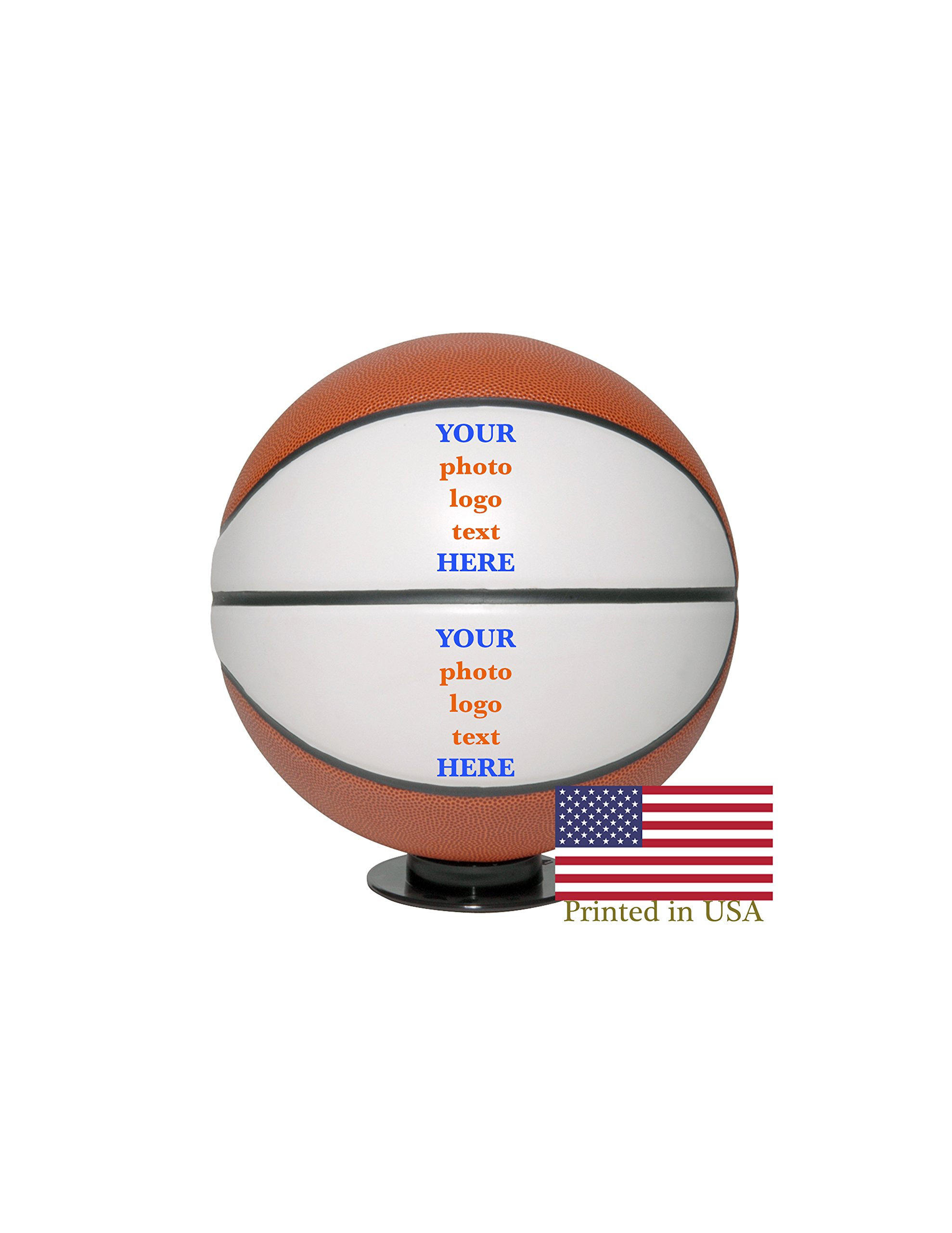 Custom Personalized Basketball Ships in 1 Day, High Resolution Photos, Logos & Text on Basketball Balls for Players, Trophies, MVP Awards, Coaches, Personalized Gifts