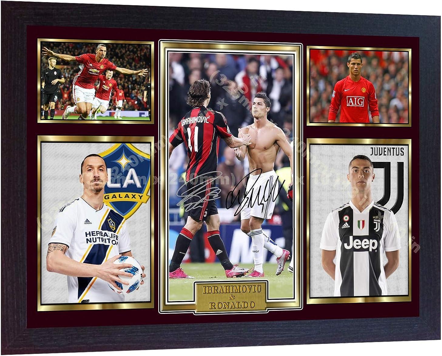 Amazon Com S E Desing Cristiano Ronaldo Juventus Zlatan Ibrahimovic Signed Photo Autographed Framed Clothing