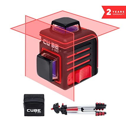 ADA Cube 2 x 360 Professional Edition, Laser Level Kit, Crossline Self-Leveling