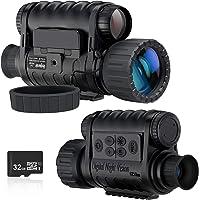 Monocular de visión nocturna, cámara de infrarrojos digital HD de 6 x 50 mm con LCD TFT de 1,5 pulgadas de alta potencia…