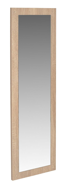 ts-ideen 11409 Set di 3 triplo scarpiera salvaspazio 45,5 x 84 cm tonalit/à rovere chiaro 1 scomparto ad anta basculante banco panca specchio appendiabiti guardaroba