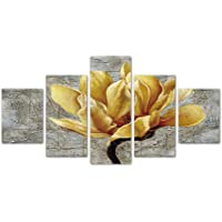 Modern 5 Pieces Giclee Canvas Prints Pictures Orchid Flowers Paintings Wall Decor for Living Room Home Decorations…