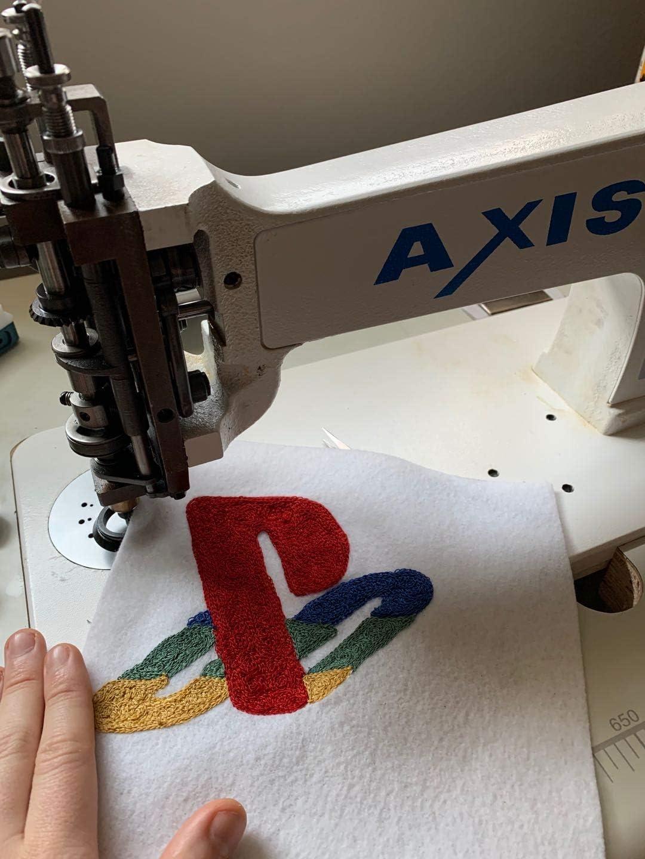Axis - Máquina de bordado de punto de aguja con manivela de mano ...