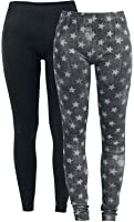 R.E.D. by EMP Leggings Chica - Pack de 2 Leggings gris/negro