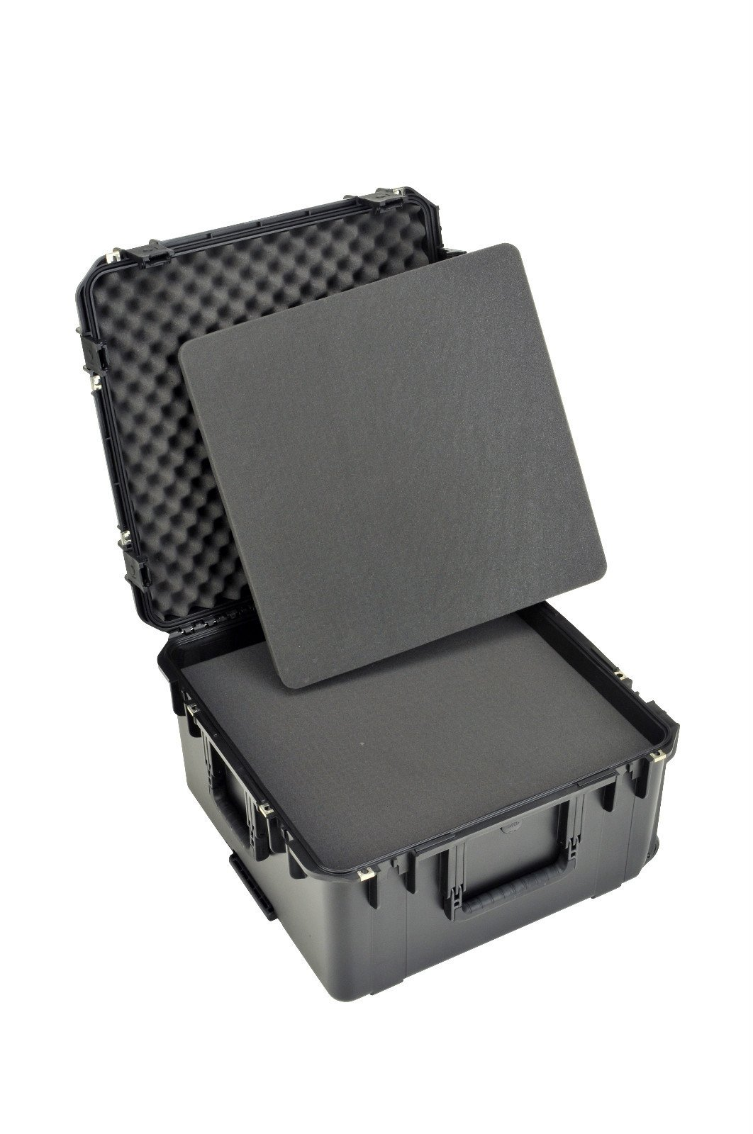 SKB Injection Molded Water-tight Case 22.5 x 22.5 x 12.5 Inches with Wheels Cubed Foam (3I-2222-12BC)