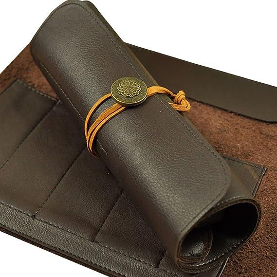 HANSHI 5 bolsillos bolsa de piel cincel cuchillo de chef ...