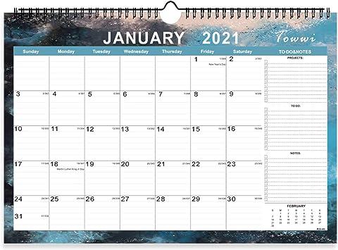 Desk Calendar 2021-2022 Amazon.: TOWWI Monthly Academic 2 Year Wall Calendar, 2021