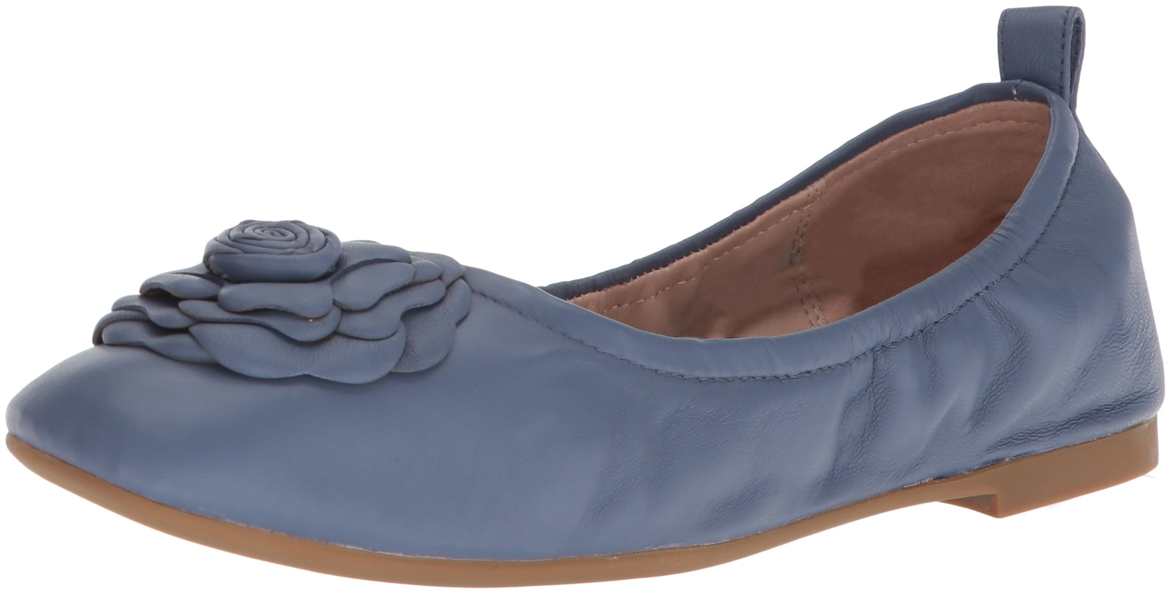 Taryn Rose Women's Rosalyn Sheep Nappa Ballet Flat, Denim, 8 M M US