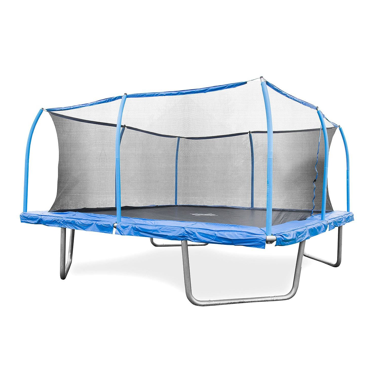 amazon com bouncepro 15 u0027 square trampoline and steelflex safety