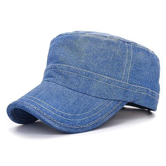 Gysad Denim Gorras Planas Ocio Gorras Hombre Vintage Sombrero ...