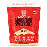 Monk Fruit Sugar Substitute Keto Friendly Non-Glycemic Zero Calorie Golden Sweetener in 16 Oz pack 1:1 Ratio for Sugar Substi