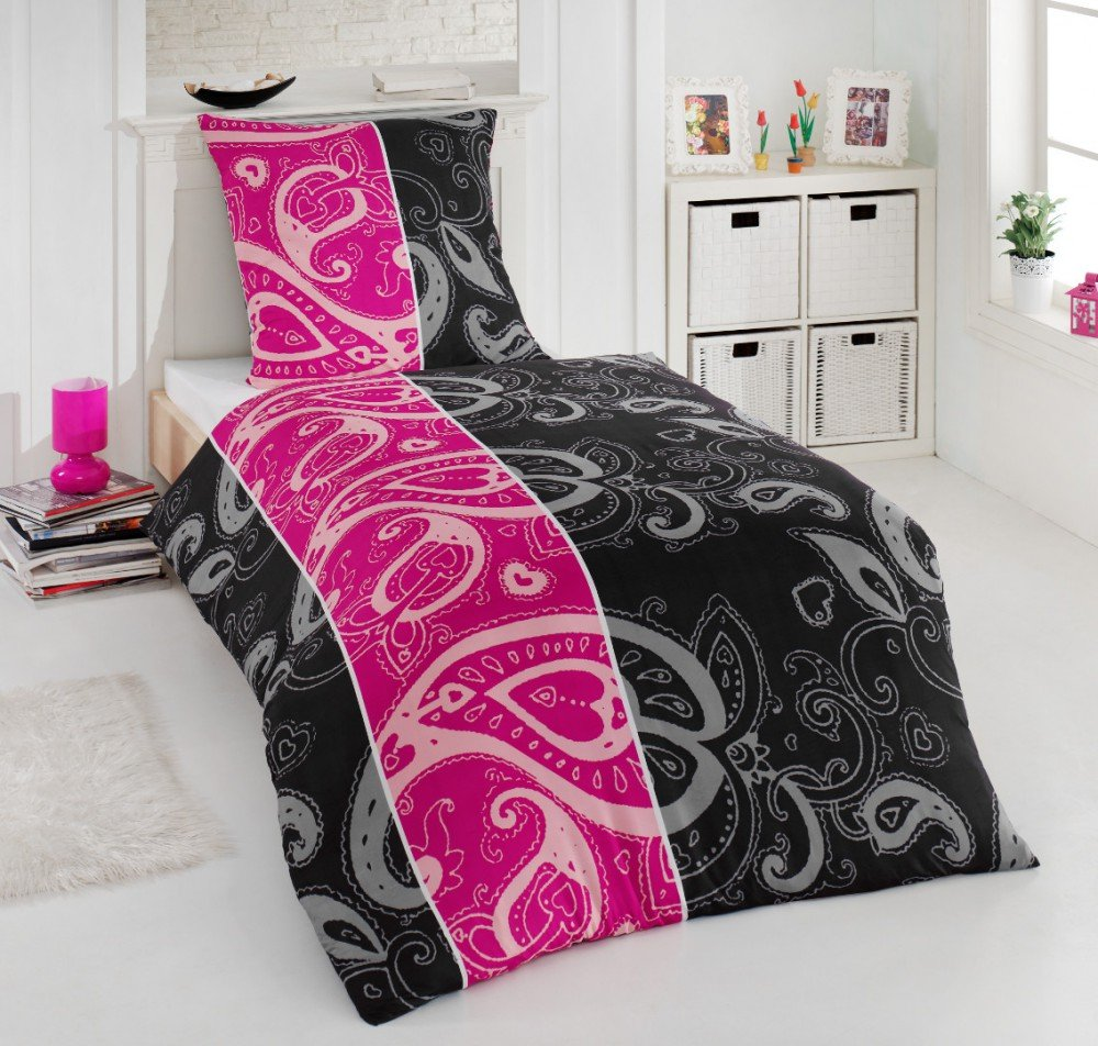bettw sche pink schwarz my blog. Black Bedroom Furniture Sets. Home Design Ideas