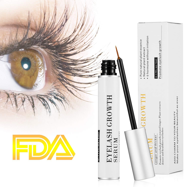 02059cffc60 Eyelash Growth Serum Eyelash Conditioner Eyelash Enhancer Treatment for Eye  Lash and Brow Non-Irritating Formula 5ml: Amazon.co.uk: Beauty