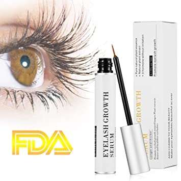 7cd2185635c Amazon.com: Eyelash Growth Serum -Lash Boost and Brow Enhancing  Serum-Eyelash and Brow Growth Treatment For Lashes-5 Milliliter: Beauty