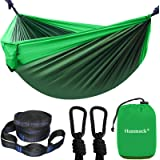 Camping Hammock, Portable Double Hammock with 2 Tree Straps(16+2 Loops), 2 Person Hammocks with 210T Parachute Nylon for…