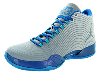 466e714ab7f9 Jordan Grey Shoes With Blue