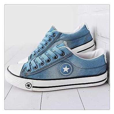 Amazon.com | TNGWA& Vulcanize Shoes Denim Sneakers Women Basket Femme Canvas Shoes Anti Slip Tenis Feminino Ladies Zapatillas Mujer Casual Light Blue 6.5 ...