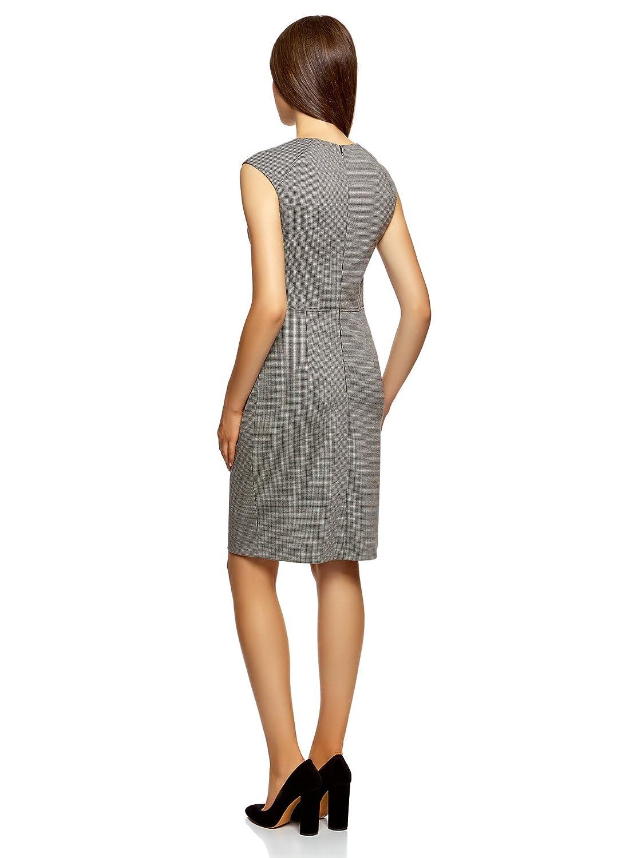 08d6fab63808 oodji Collection Femme Robe en Maille Décorée de Détails en Similicuir   Amazon.fr  Vêtements et accessoires