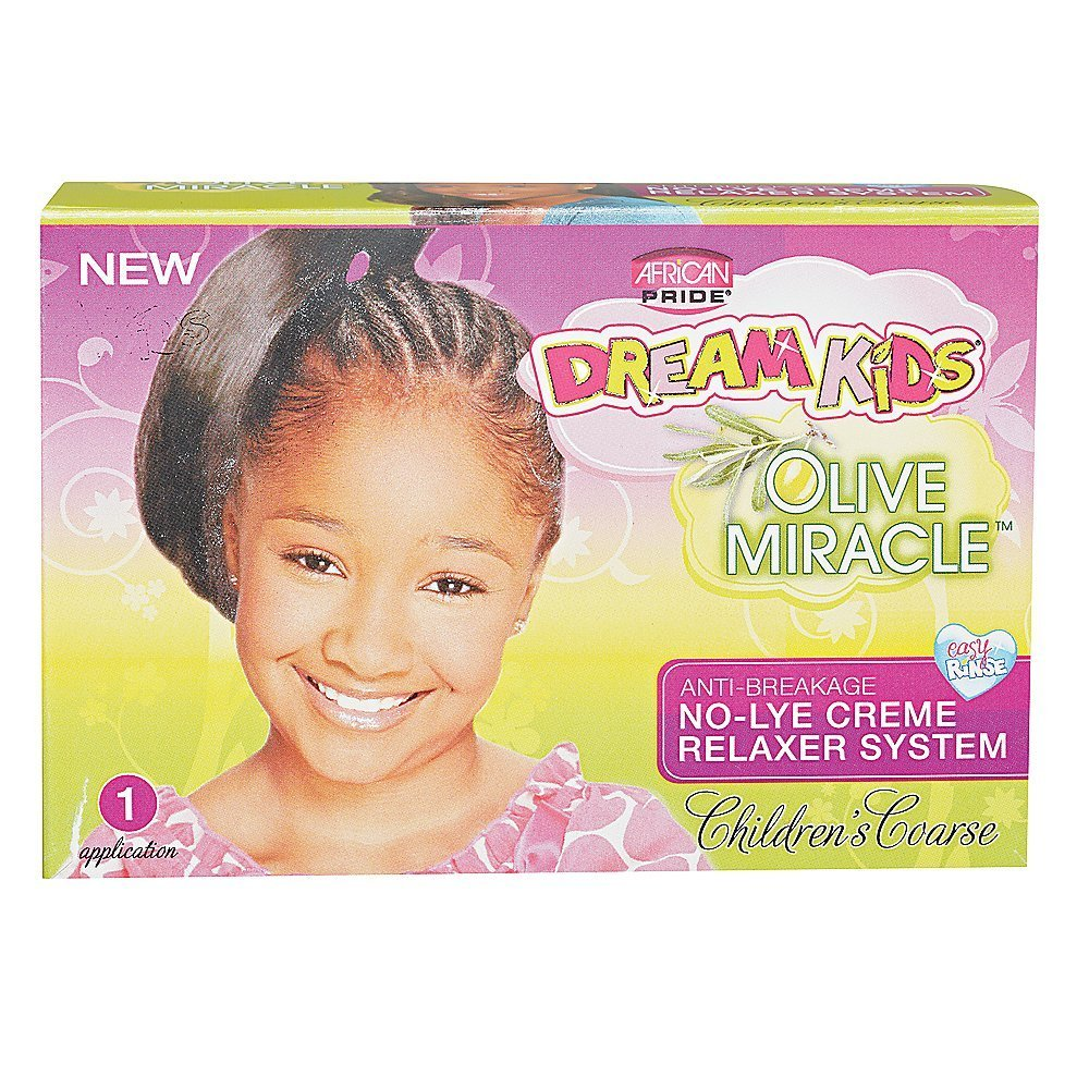 African Pride Dream Kids Olive Miracle No-Lye Creme Relaxer System Coarse Kit