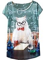 YICHUN Femme Fille Léger Tops T-Shirt Thin Tee-shirt de Loisir Camisole Blouse Tees Tunique Imprimé