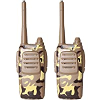 Pack of 2 Little Two Way Radio Transceiver Walkie Talkies Toys 40 Meters Long Range UHF 462.550-467.7125MHz Best Gift for Kids Outdoor Activities (CAMO-178-28)