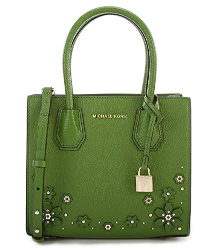 7b4277c7ec33 Image Unavailable. Image not available for. Color  MICHAEL Michael Kors  Mercer Floral Embellished Leather Crossbody